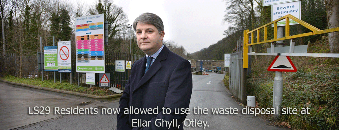 Ellar Ghyll household waste site can now be used by residents with LS29 postcode