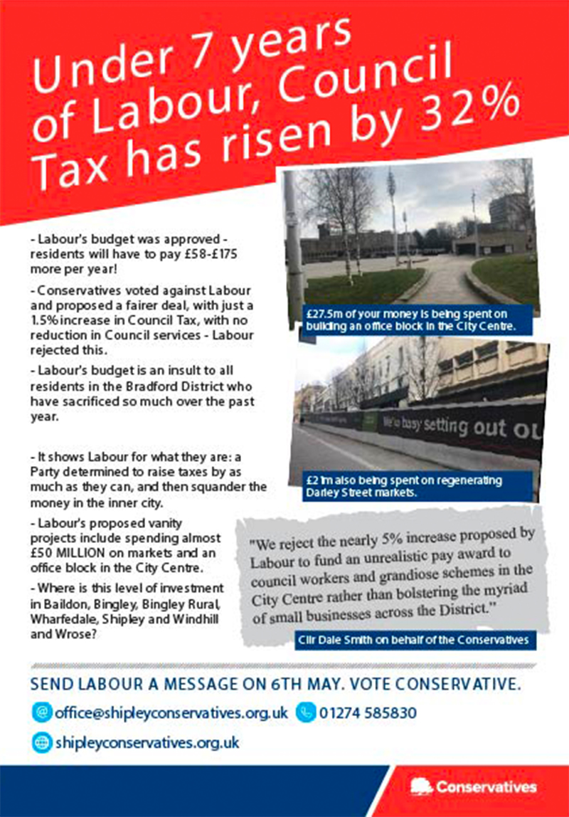 Bradford Council Tax set to rise by 4.99% under lanour