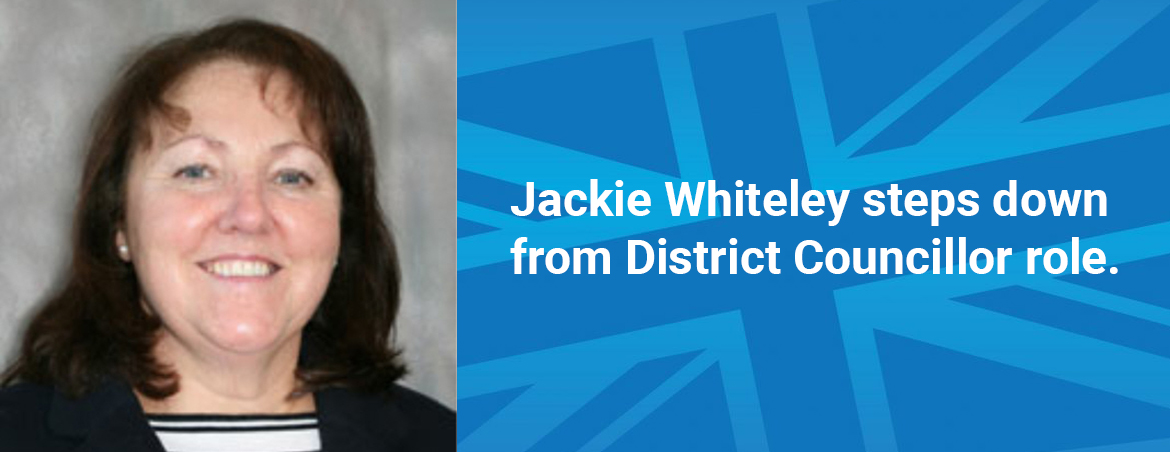Jackie Whiteley steps down from District Councillor role